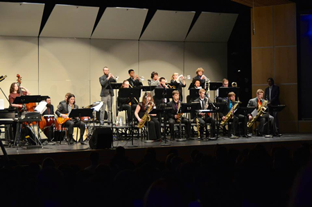 Jazz band playing
